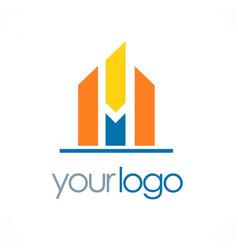 building letter m logo vector image