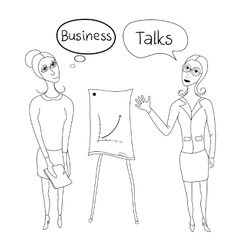 Business negotiations business women in business vector
