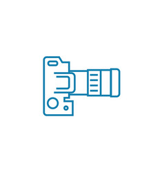 camera settings linear icon concept camera vector image
