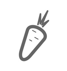carrot outline icon vegetable vector image