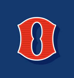 Classic style number zero sport logo vector