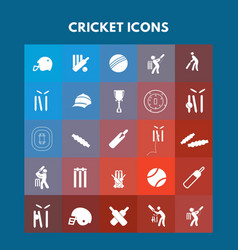 cricket icons vector image