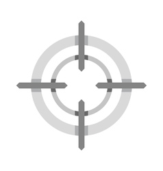 Crosshair reticle icon flat style vector