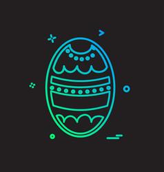egg icon design vector image