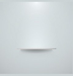 empty white shelf hanging on a wall bright office vector image