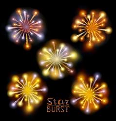 Festive patterned firework bursting in various vector image