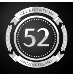 Fifty two years anniversary celebration with vector image vector image