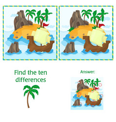 find the ten differences between the two images vector image