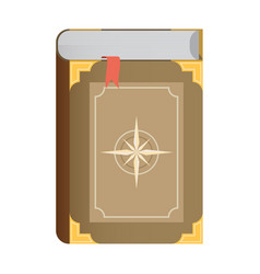 flat book icon eps10 vector image