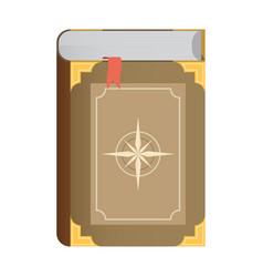 Flat book icon eps10 vector