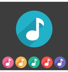 Flat game graphics icon sound vector