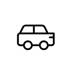 flat line car icon symbol sign logo template eps vector image