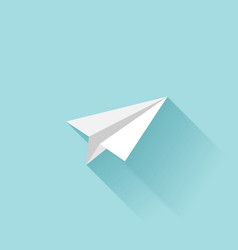 Flat paper plane icon vector