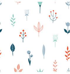 flower simple minimalist seamless pattern vector image
