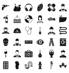 Good job icons set simple style vector