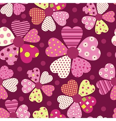 Heart flower pattern vector image vector image