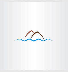 Island logo symbol element vector