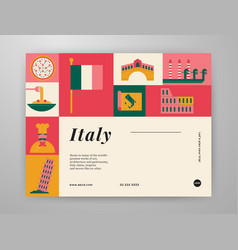 italy travel graphic content layout vector image