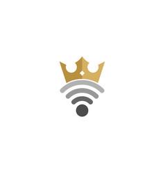King wifi logo icon design vector