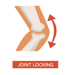Knee joint locking arthritic health issue concept vector