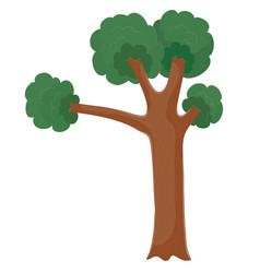 lonely tree with a strong trunk and a dense crown vector image