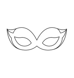 mask cute accessory vector image