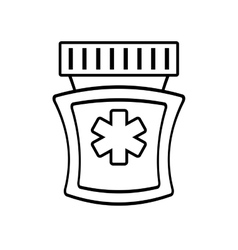 Medicine bottle capsule pharmacy health vector