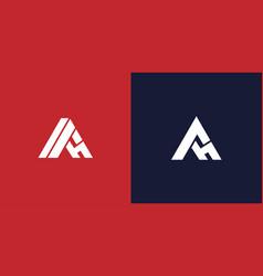 Modern and unique ah letter initials logo design vector