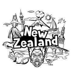 New zealand print design vector