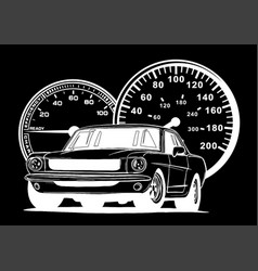 old school car muscle car vector image