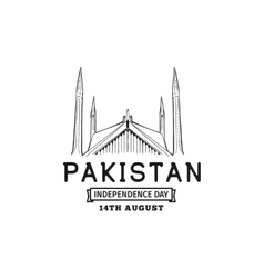 Pakistan Independence day 14th august vector image