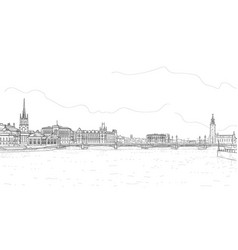 Panorava of stockholm vector