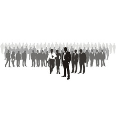 People with network boss on front vector