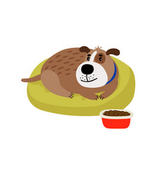pet dog cartoon icon vector image