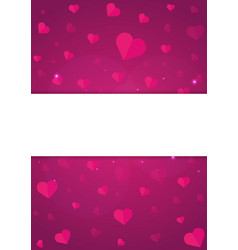 poster happy valentines day background with vector image