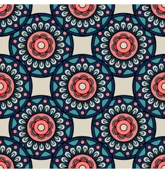 Retro colors boho hand drawn seamless background vector image