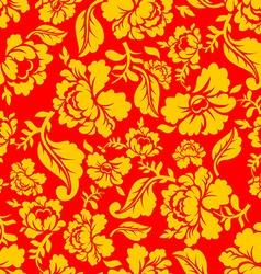Russian national pattern Hohloma Traditional Folk vector image vector image