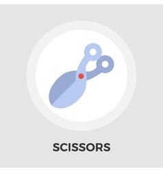 Scissors Flat Icon vector image