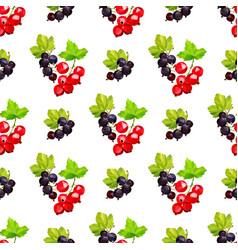 Seamless pattern clusters berries red vector