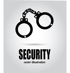 Security design over gray background vector