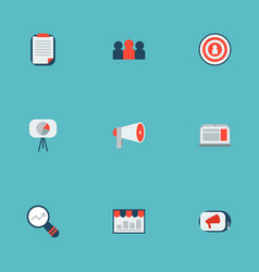 set of marketing icons flat style symbols with ad vector image