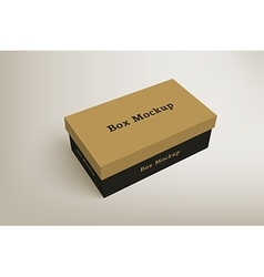 Shoes product packaging mock-up box 1 vector