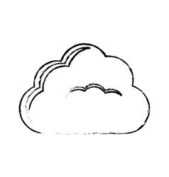 single cloud icon image sketch line vector image