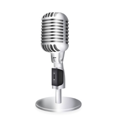 single retro microphone vector image