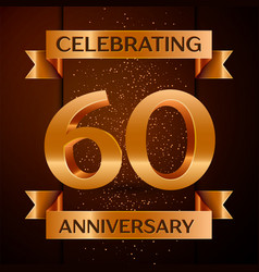sixty years anniversary celebration design banner vector image