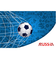 Soccer match russian background design vector