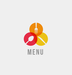 spoon knife and fork silhouette isolated icon vector image