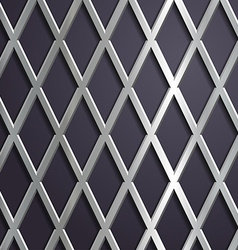 Steel geometric background vector image