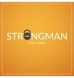 Strongman logo vector image