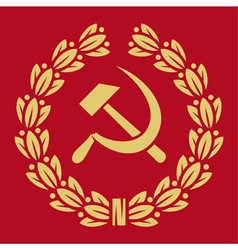 symbol of USSR - hammer and sickle vector image